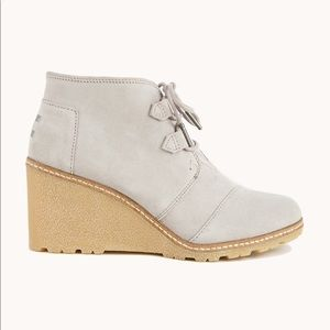 TOM Desert wedge crepe drizzle grey